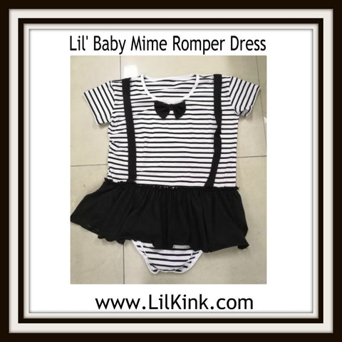 DISCONTINUED Lil' Baby Mime Romper Bodysuit Dress Clearance