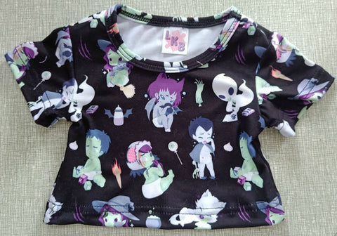 TINY TERRORS BLACK Stuffy Matching Shirt BY KEROKEROKOUHAI
