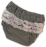 Pretty Kitty Black & White Ruffles Matching Bloomers
