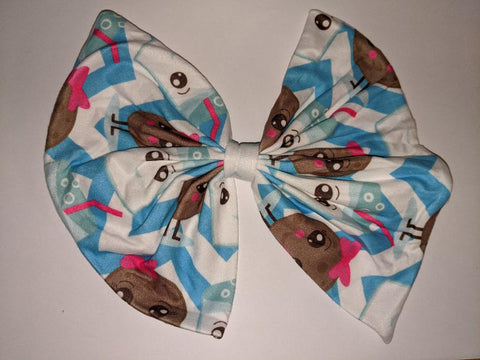 COOKIES & MILK MATCHING Boutique Fabric Hair Bow Clearance