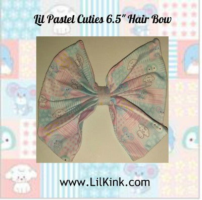 Lil Pastel Cuties MATCHING Boutique Fabric Hair Bow