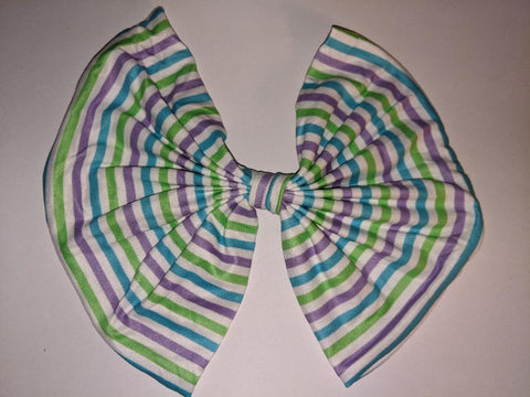 Summer Time MATCHING Boutique Fabric Hair Bow Clearance