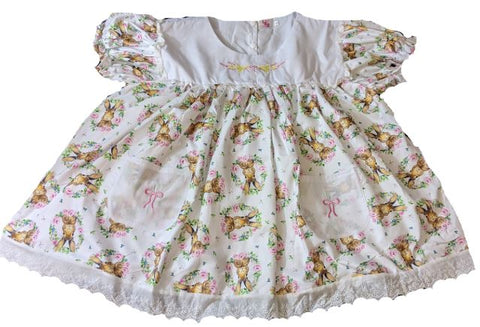 Lil Bunny Embroidered Baby Doll Dress