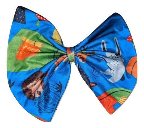 CAMPING MATCHING Boutique Fabric Hair Bow
