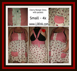 Cherry Romper Dress with pockets Plus Size