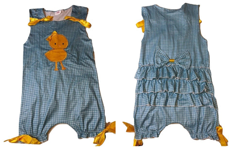 Ruffle Easter Chick 1pc Romper Jumpsuit Shorts