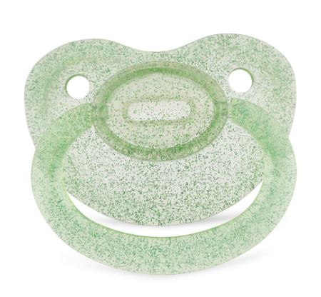 Clear Green Sparkle New Large Sparkle Color Adult Pacifier