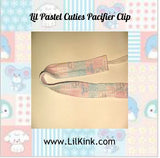 Lil Pastel Cutie Matching Fabric Pacifier Clips - 17""