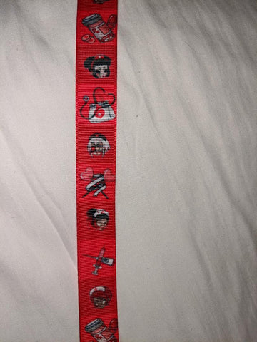 "Nightshift Nightmares Nurse Matching Ribbon Pacifier Clips - 10""-12"""