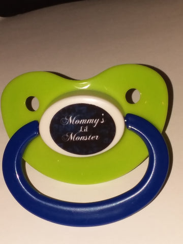 Mommy's Lil Monster Lifestyle pacifier cp1058 Blue