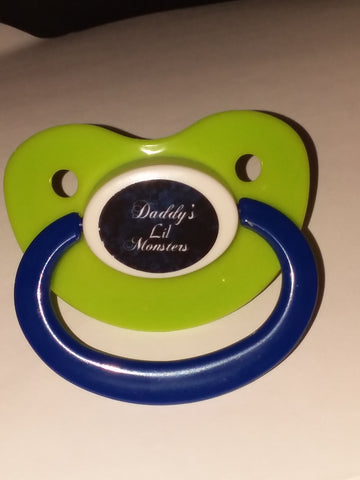 Daddy's Lil Monster Lifestyle pacifier cp1063  Blue