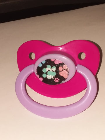 Pet me paw prints  lifestyle pacifier cp1066