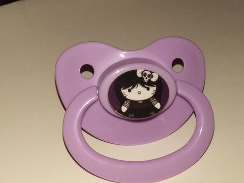 Kitty Pacifier White HK CP10 GOTH
