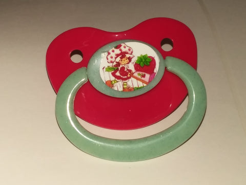 80's Cartoon Strawberry Girl Pacifier #1