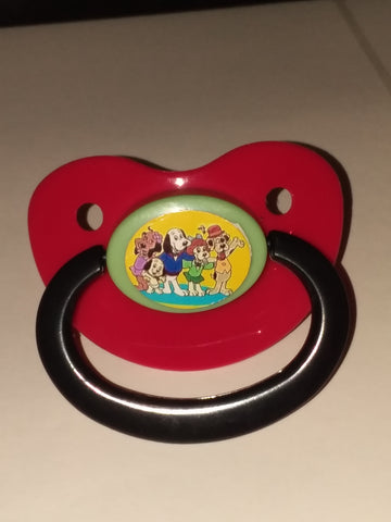 "80""s Cartoon Puppy Dogs Pacifier"