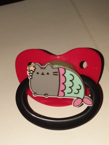 Kitty Grey Pacifier Mermaid cp1684