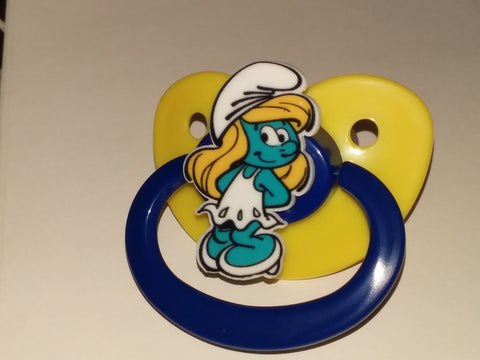 80's Cartoon Blue #1 Pacifier CP1698