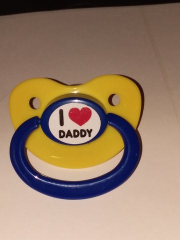 Daddy I LOVE MY DADDY Lifestyle pacifier CP612