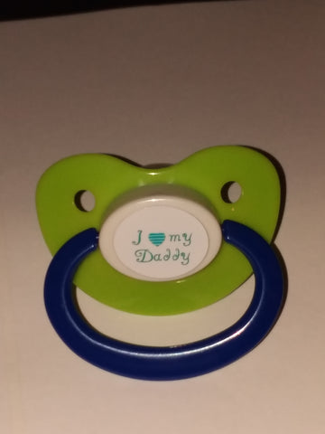 Daddy I LOVE MY DADDY Lifestyle pacifier CP619