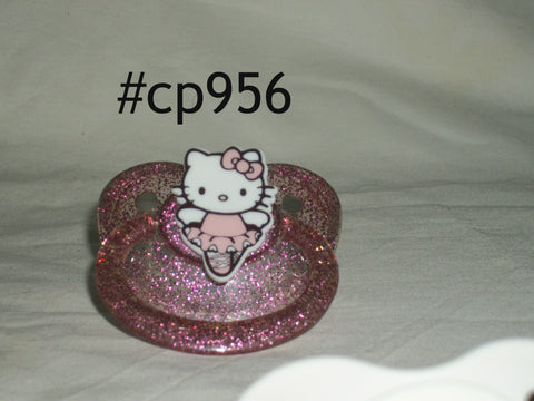 Kitty Pacifier White CP956 DANCING KITTY