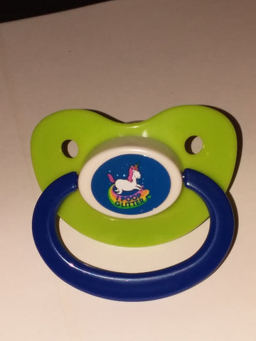 UNICORN  Pacifier CP965  I POOP GLITTER