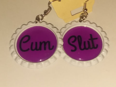 Boutique Bottle Cap Earrings Huge Variety Art Cum Slut E156