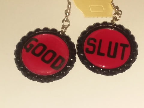 Boutique Bottle Cap Earrings Huge Variety Art Good Slut E157