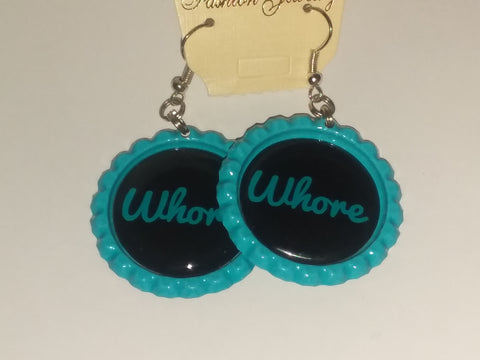 Boutique Bottle Cap Earrings Huge Variety Art Whore E166