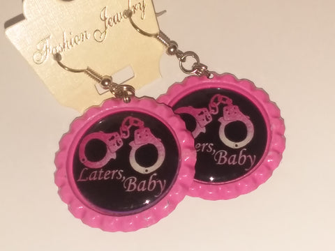Boutique Bottle Cap Earrings Huge Variety Art Laters, Baby E174
