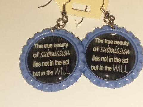 Boutique Bottle Cap Earrings Huge Variety Art The True Beauty of Submission E178