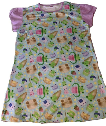 DISCONTINUED Froggie Treats NIGHT GOWN PAJAMAS DESIGNED BY KEROKEROKOUHAI Clearance
