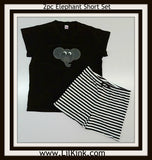 DISCONTINUED Elephant 2pc T-shirt & Striped Shorts Outfits Set CLEARANCE