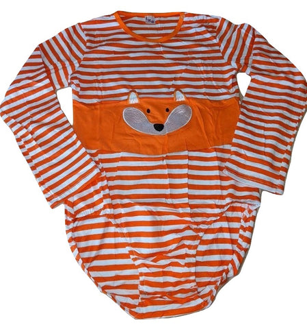 Sneaky Fox Long Sleeve Onesie