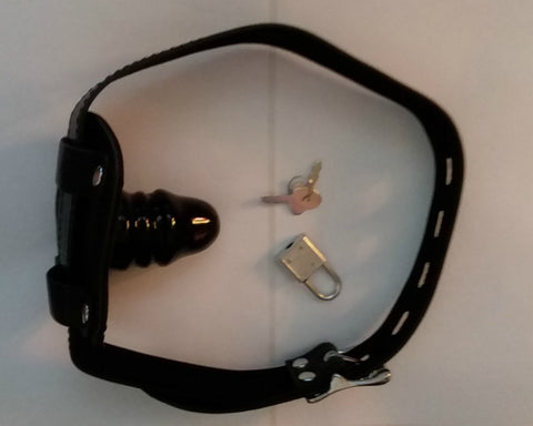 NEW LOCKABLE Small PENIS BALL GAG Black