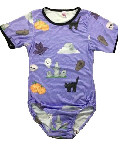 DISCONTINUED Spooky Baby Short Sleeve Onesie Print DESIGNED BY ODDFOXSHOP Clearance