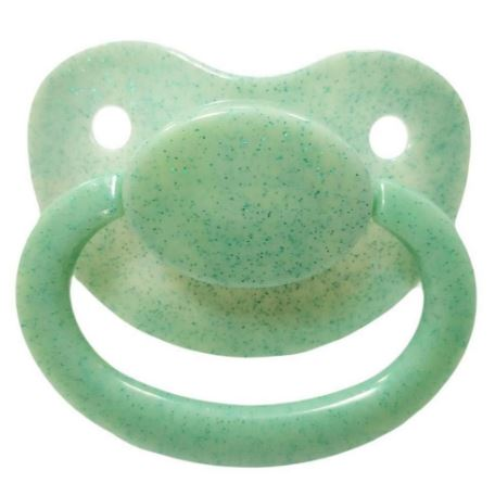 Green/Blue Sparkle New Large Sparkle Color Adult Pacifier