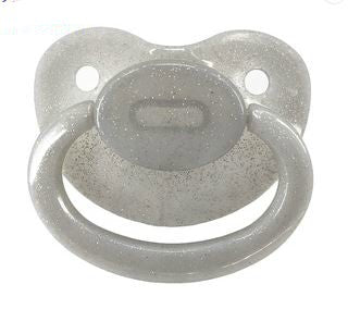 Clear Grey Sparkle New Large Sparkle Color Adult Pacifier