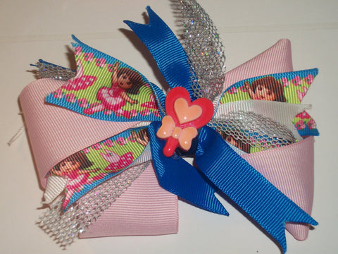 Pre school Girl Boutique Hair Bow HB178