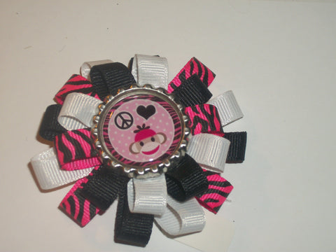 Hairbow Monkey  Boutique Hair Bow HB286 CLEARANCE