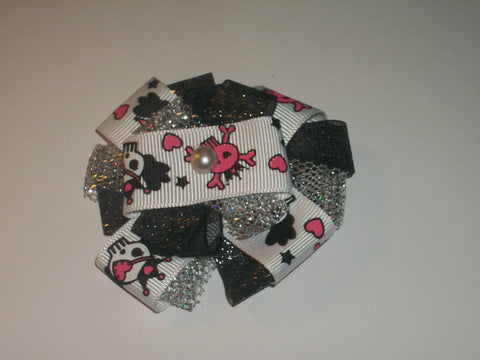 Skulls Boutique Hair Bow HB308