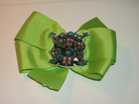 Super Hero Turtles Boutique Hair  Bow HB343