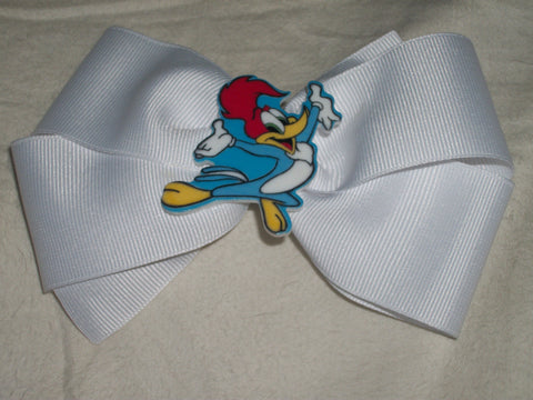 Classic Cartoons Woody Wood Pecker Boutique Hair Bow HB354