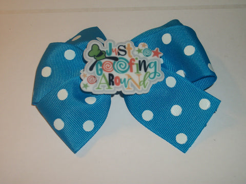 Just Goofing Around Boutique Hair Bow HB369