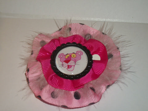 Kitty Pink Panth8r Boutique Hair  Bow HB96