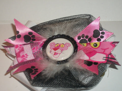 Kitty Pink Panth8r Boutique Hair  Bow HB97