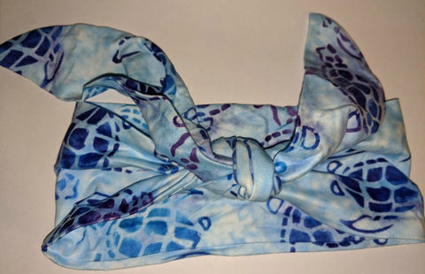 SEA TURTLES MATCHING Boutique Fabric Hairband Headband