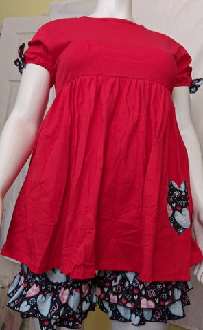 Lil Valentine 2pc Short Sleeve Dress & Matching Shorts Outfits