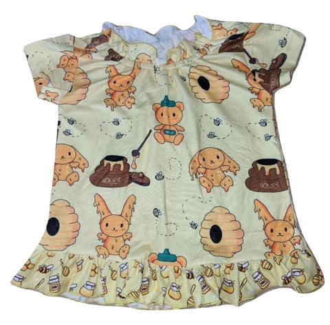 Hunny Bunny Matching Stuffy Night Gown Shirt DESIGNED BY @CYAN.RED