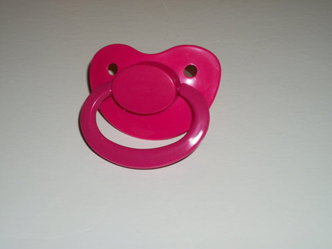 Hot Pink New Large Plain Color Adult Pacifier