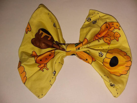 Hunny Bunny Matching Boutique Fabric Hair Bow Designed by cyan.red
